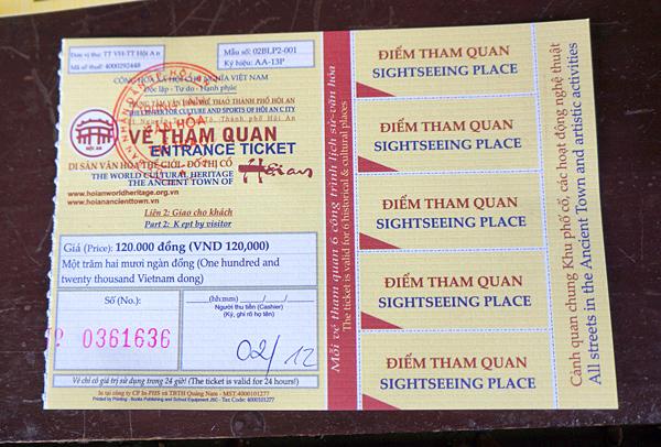 ホイアンの観光チケット