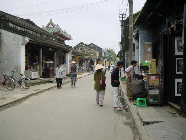 チャンフー通り、福建会館近く(2000年12月撮影)