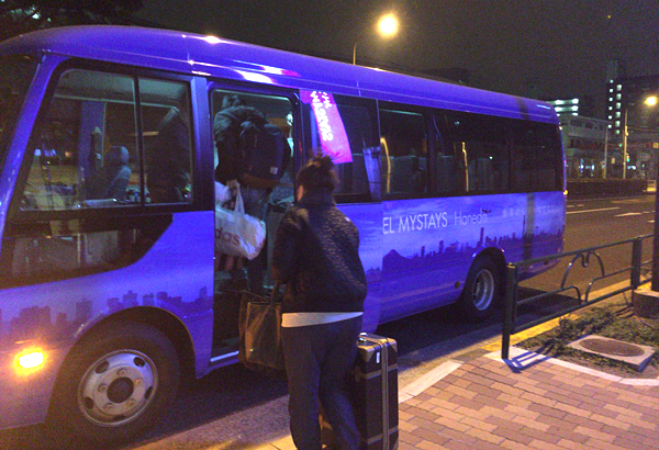 羽田空港行きの無料シャトルバス
