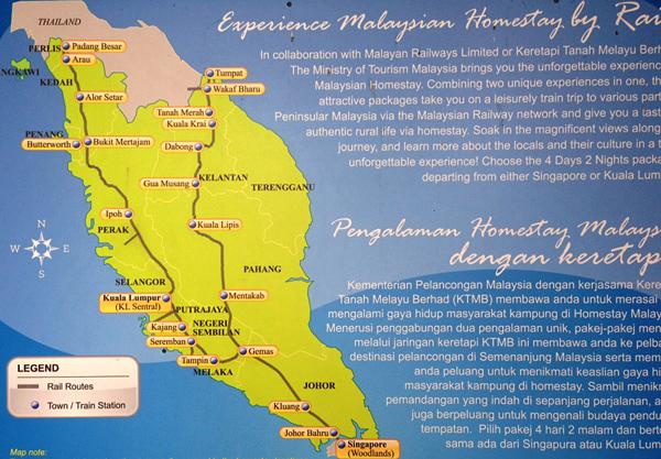 マレー鉄道路線図