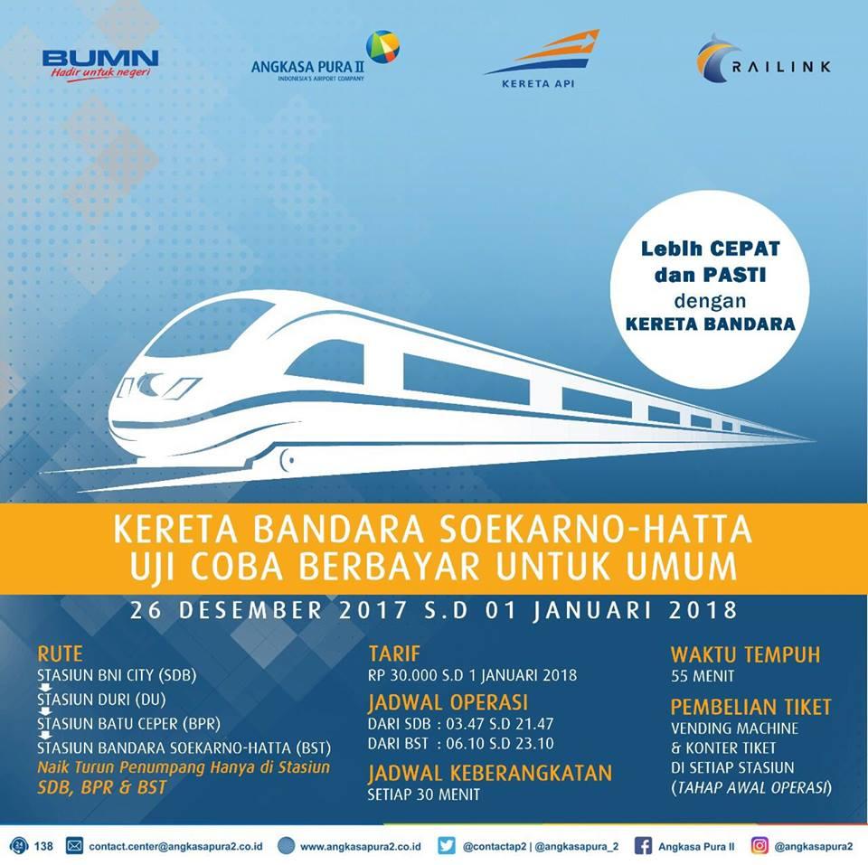 ジャカルタ空港鉄道が運行開始