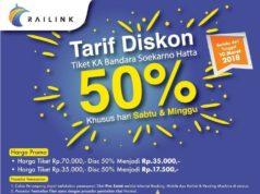 ジャカルタ空港鉄道、週末は運賃半額に