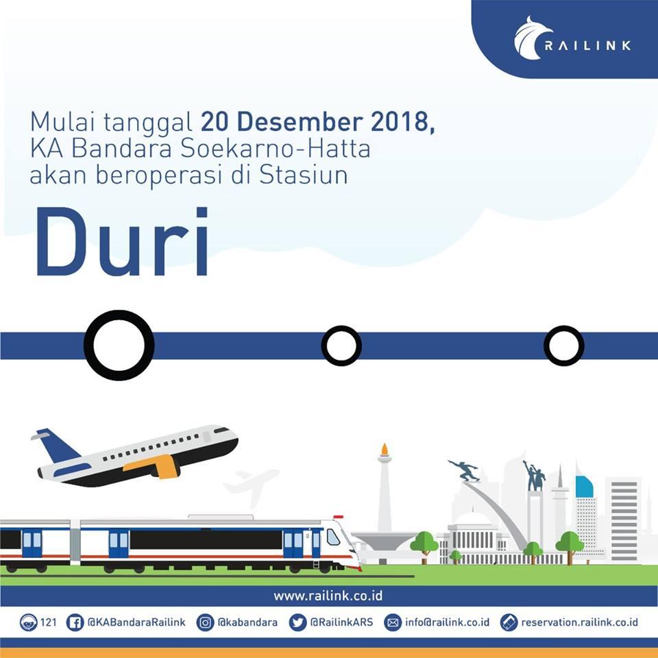 ジャカルタ空港鉄道、ドゥリ駅での乗降が可能に