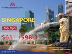 JCインターナショナル航空 プノンペン~シンガポール線