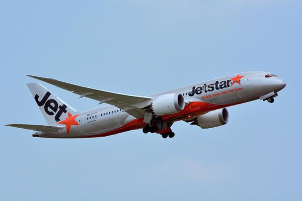 ジェットスター航空のボーイング787-7型機