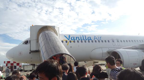 バニラエアのエアバスA320型機
