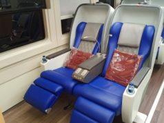 インドネシア鉄道会社の新しい豪華車両