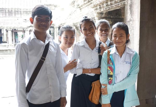 カンボジア・アンコールワットにて