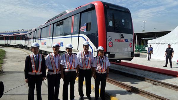クアラルンプールLRTの新型車両