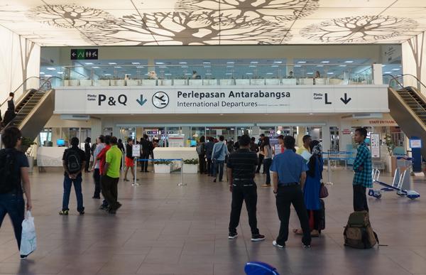 クアラルンプール国際空港KLIA2の国際線出発ゲート