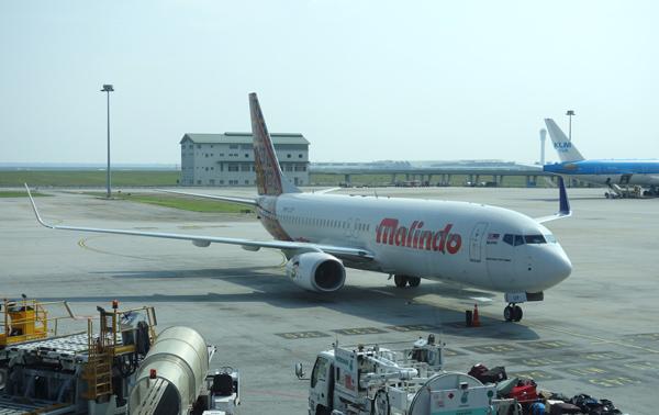 クアラルンプール国際空港に駐機中のマリンドエア機