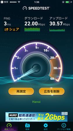ホテルのWi-Fiの接続速度
