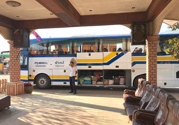 バンコク行きの国際バス