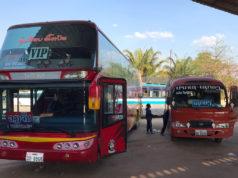 ビエンチャン行きVIPバスとセーコーン行きミニバス