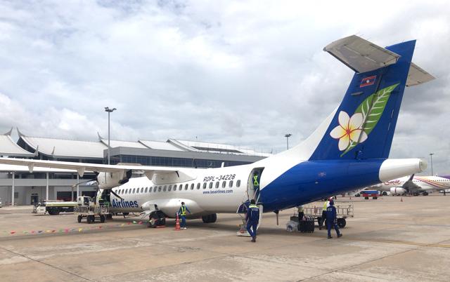 ラオス航空のATR72型機