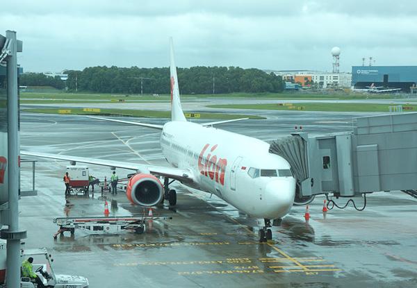 チャンギ空港のライオンエア