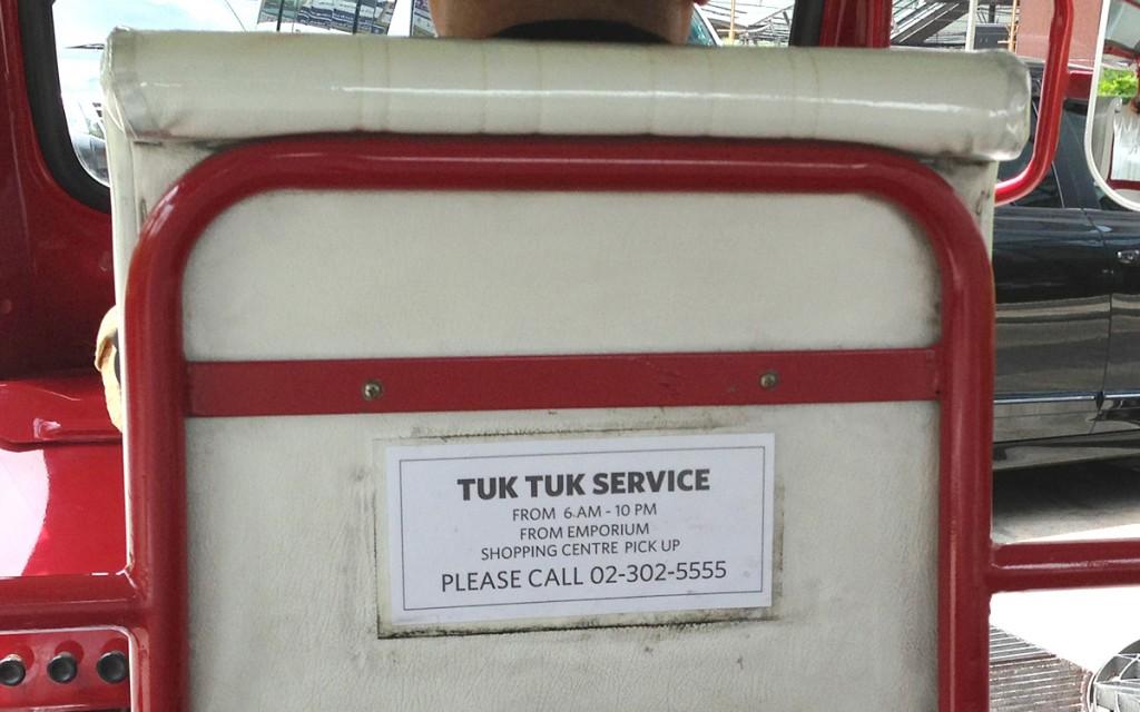 トゥクトゥクによる送迎サービス