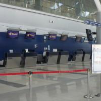 タイ国際航空のチェックインカウンター