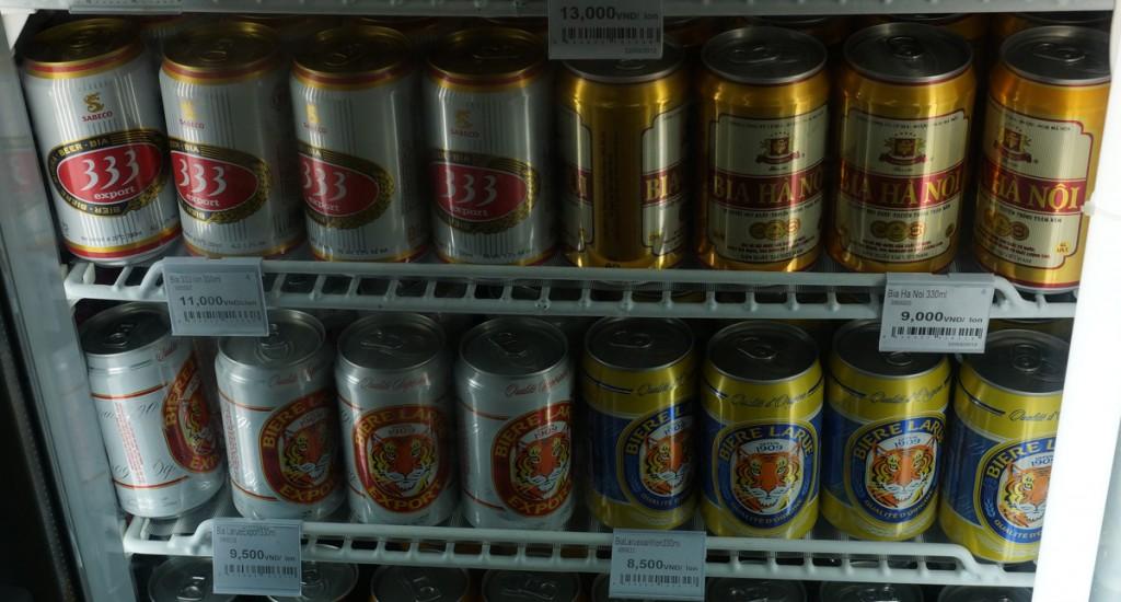 ベトナムのコンビニで販売されているビールの価格