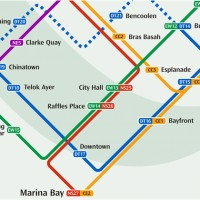 シンガポールMRT地図