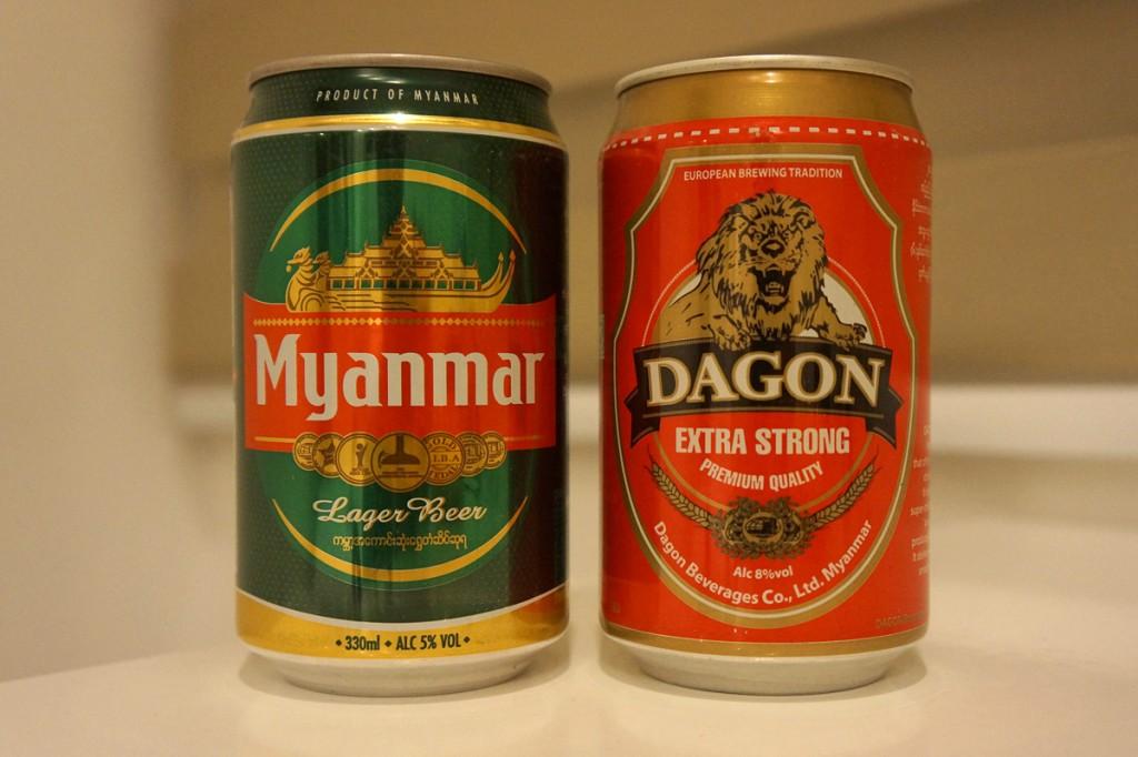 ミャンマーを代表するビール、ミャンマービールとダゴンビール