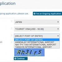 ミャンマーオンラインビザ申請フォーム