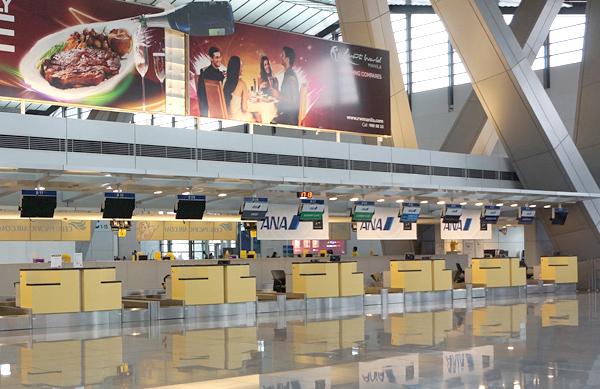マニラのニノイ・アキノ国際空港ターミナル3 ANAのチェックインカウンター