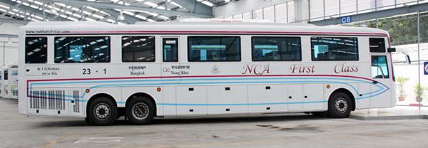 ナコンチャイエアのバス