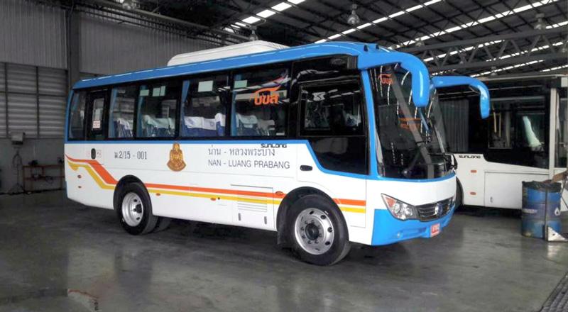 ナーン~ルアンパバーン間の国際バス