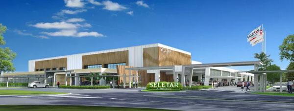 セレター空港の新旅客ターミナル