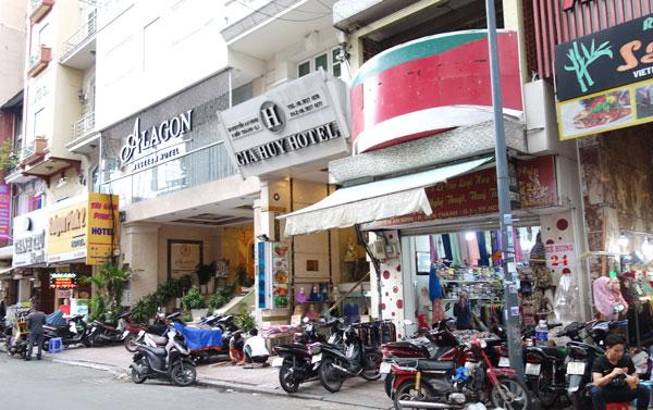 グエンアンニン通りのホテル