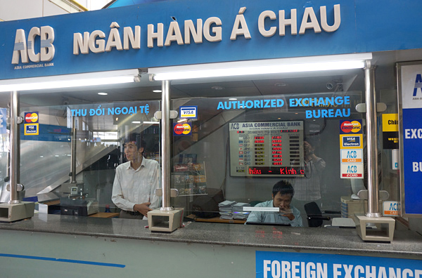 アジアコマーシャル銀行の両替所