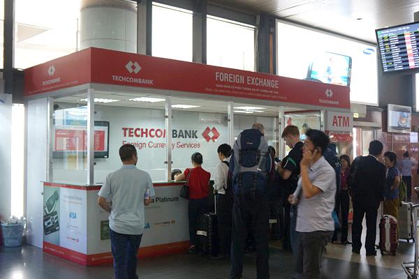 テックコム銀行の両替所
