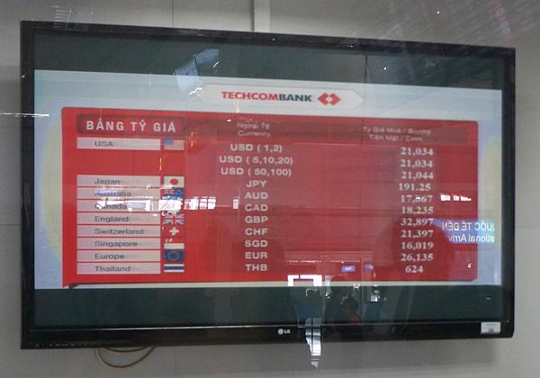 テックコム銀行の両替レート