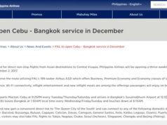 フィリピン航空 セブ~バンコク線