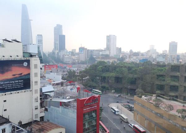 ホテル11階からの眺望