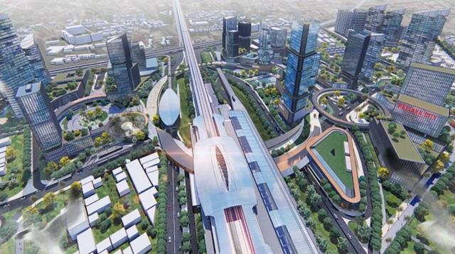 パタヤ駅周辺の開発計画図