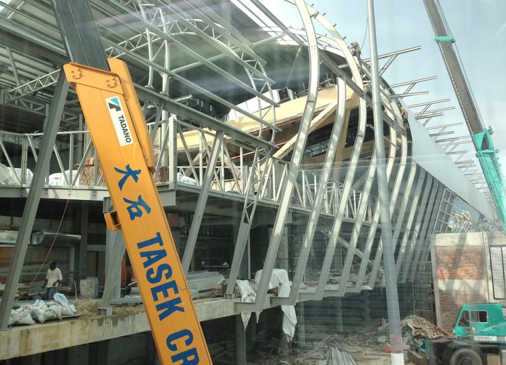 改装工事中のペナン国際空港