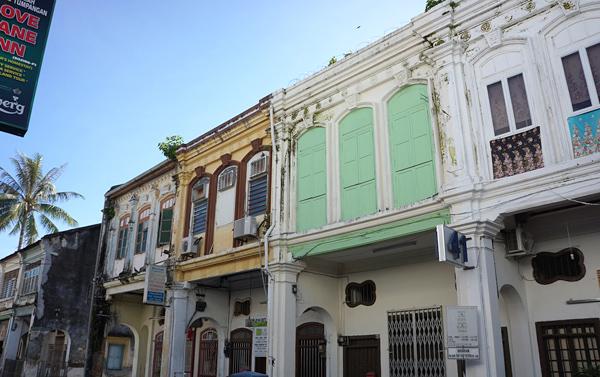 ペナン島ジョージタウンのショップハウス