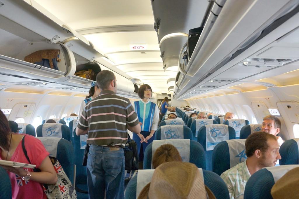 バンコクエアウェイズPG216便 機内の様子