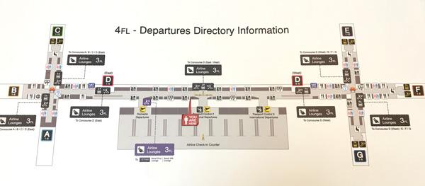 出発フロア案内図