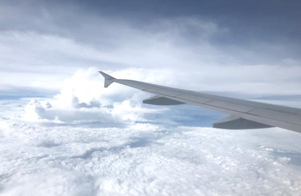 飛行中の景色