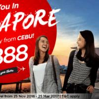 フィリピン・エアアジア セブ~シンガポール線