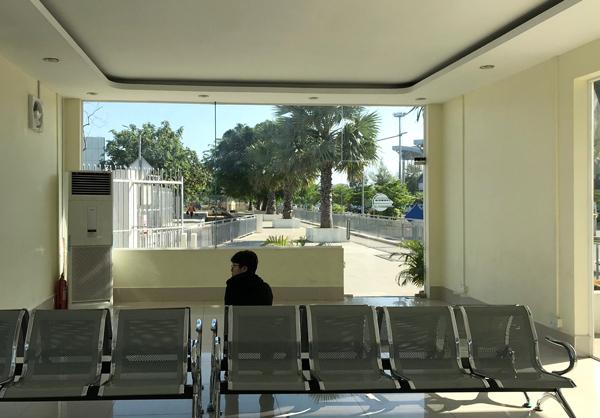 プノンペン空港駅の待合室