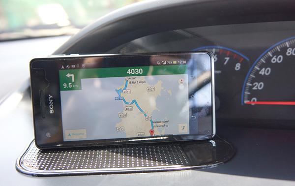 Googleマップのナビ機能