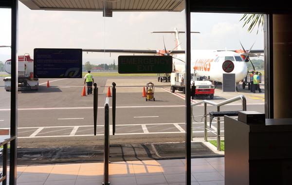 目の前が駐機場