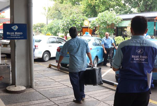 ハリム空港のタクシースタンド