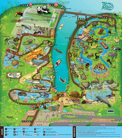 リバーサファリ園内マップ
