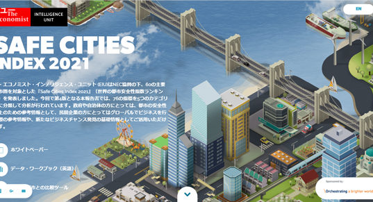 Safe Cities Index公式サイトより