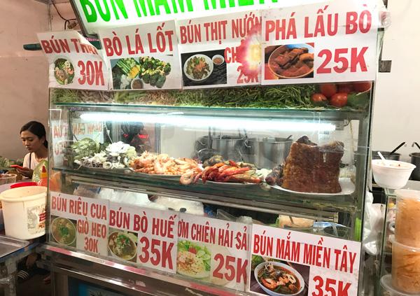 ベトナム料理のブース